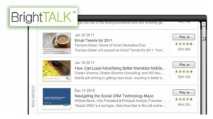 Bright Talk is an online event service.