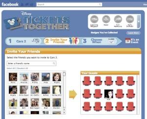 Disney movie tickets app lets you invite Facebook friends